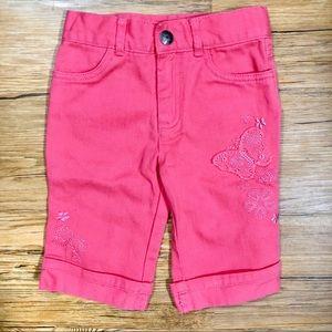 Arizona Coral Cropped Jeans with Embroidery [2T]